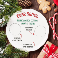 Cricut Giveaway + DIY Santa Snack Plate Cricut Craft with Free Cut File