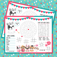 Puppy Love Activity Sheet + 21 Valentine's Day Printables