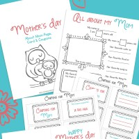 Free Mother's Day Printable- Card, Coupons and All About My Mom Questionnaire