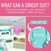 Cricut Basics: What Materials Can A Cricut Cut + Free Crafting SVG