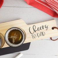 Cricut Craft- DIY Beer Flight Board Handmade Gift For Dad With Free SVG