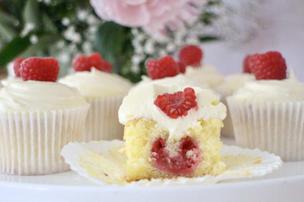 Raspberry & Orange Cupcakes with Prosecco Buttercream
