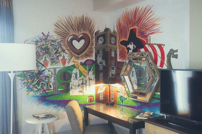artwork at hotel indigo york