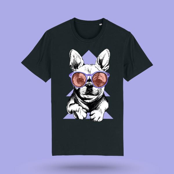 Tricou personalizat caini - tricou barbati Purple