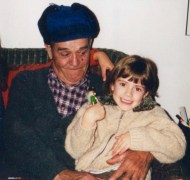 He loved children. Here he is with my little sister, Geneviève.