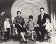 My grandparents with my mom and uncles, David and João.