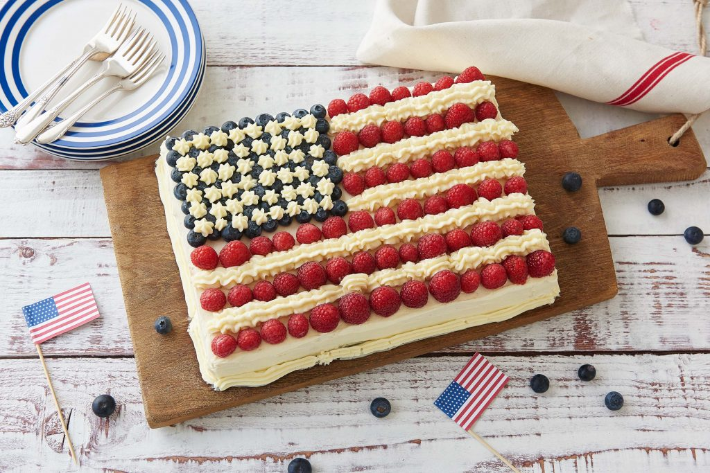 memorial day recipes-HelloFresh-red-white-blue-cake