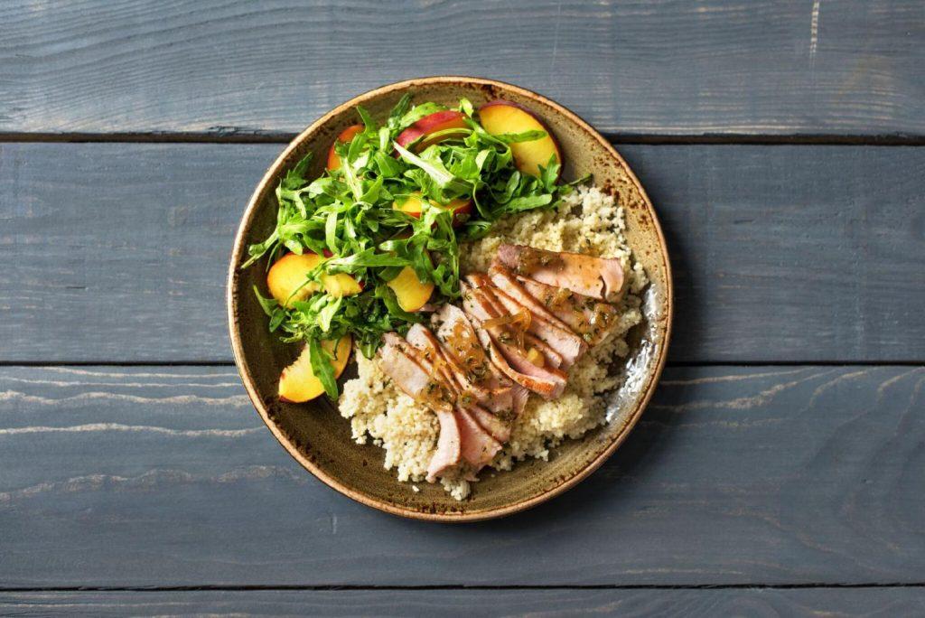 peach recipes-national-peach-month-pork-chops-HelloFresh