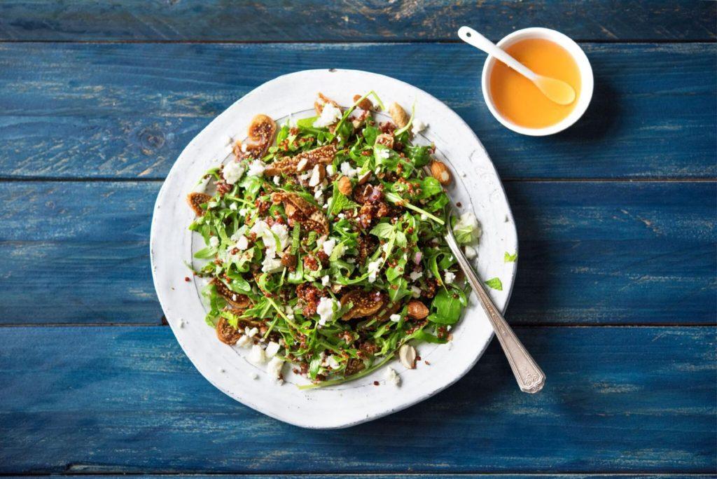 Best Thanksgiving Sides-HelloFresh-dried-fig-quinoa-arugula-salad