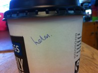 I was bought a coffee at work :)
