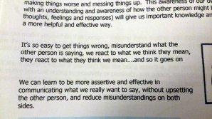 Reading up on assertiveness