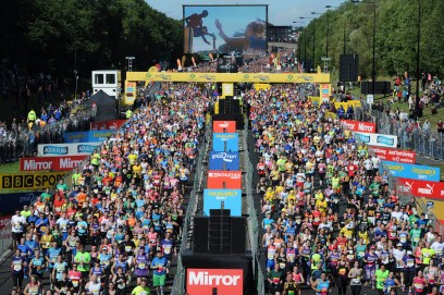 Dated: 13/09/2015 The 35th staging of the Morrisons Great North Run took place today (13 September). 57,000 people registered to take part in Britain's biggest running event, a 13.1 mile course from Newcastle to South Shields. #NorthNewsAndPictures/2daymedia