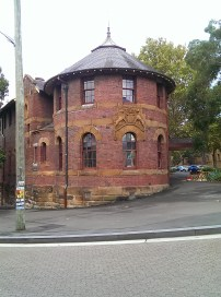 pretty building in Darlinghurst