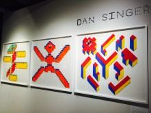 Dan Singer graphic prints at Pick Me Up Festival