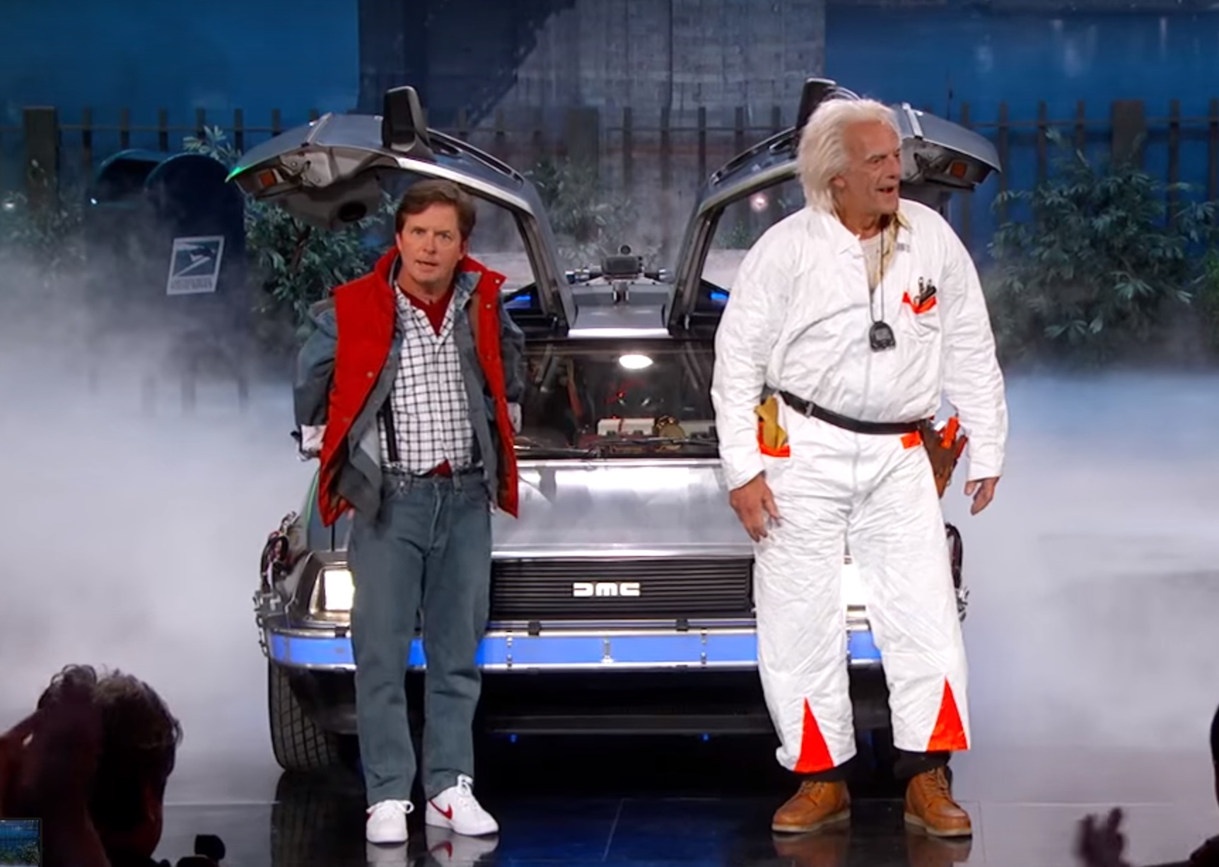 Marty Mcfly And Doc Brown Were On Jimmy Kimmel Last Night