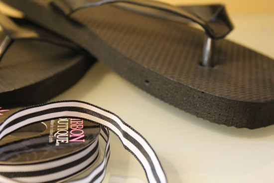 DIY Ribbon Flip Flops | HelloGlow.co