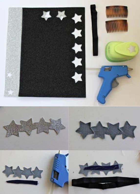 how to make a sparkly star headband