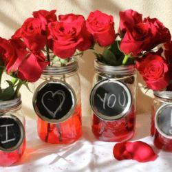 DIY Mason Jar Vases for Valentine's Day