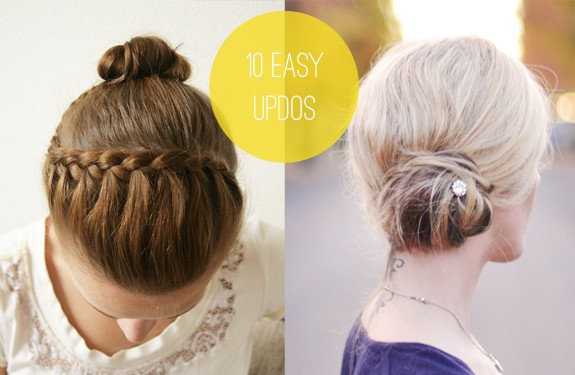 10 easy updos