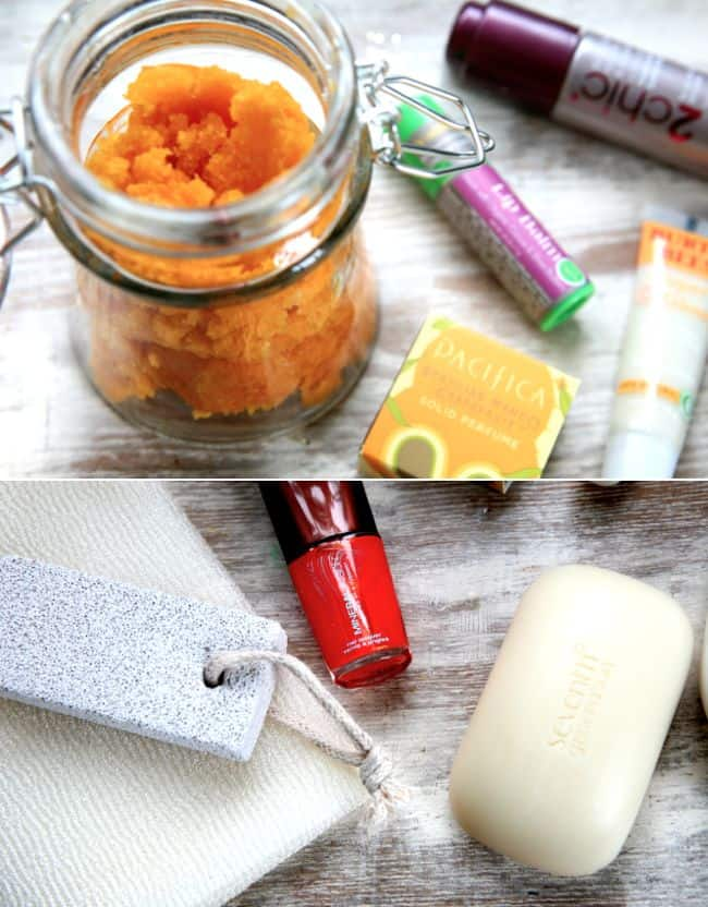 Scrub Lip Balm and Perfume