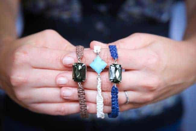 DIY Jewel Macrame Bracelet   Hello Glow