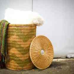 DIY Chevron Laundry Basket