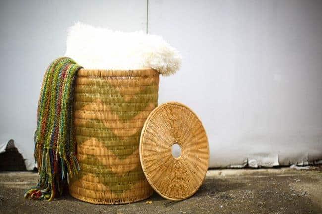 Spray Painted Basket