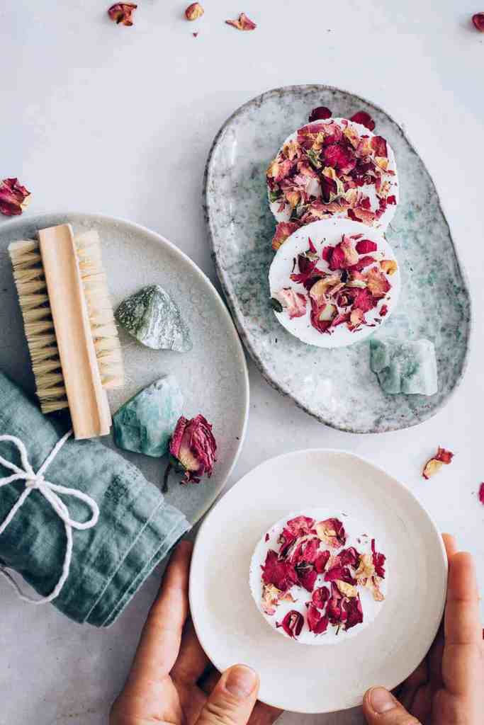 Shea Butter Soap Recipe with Roses and Vanilla