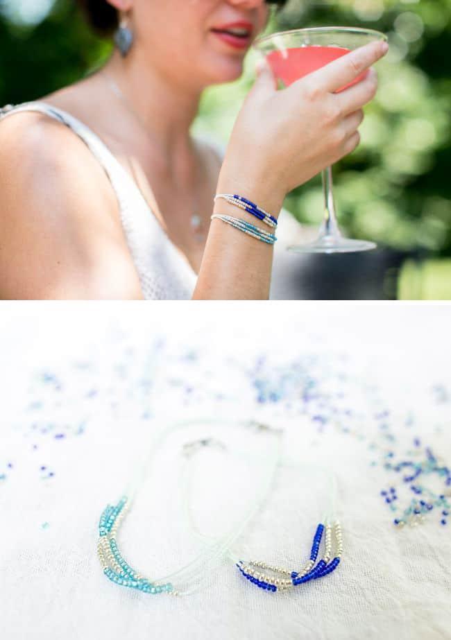 DIY seed bead bracelet
