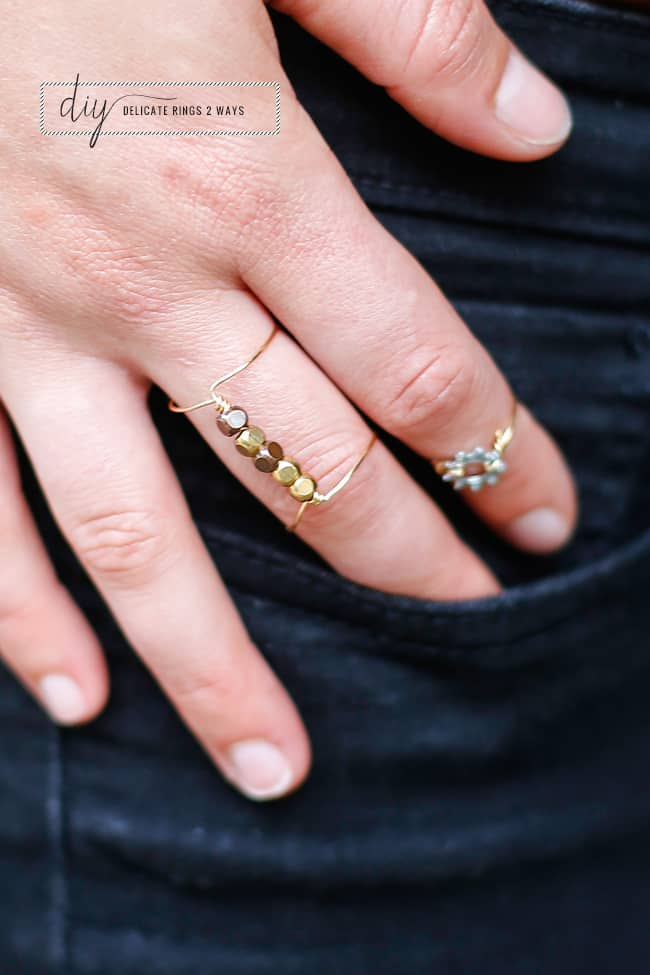 DIY Delicate Rings 2 Ways | Hello Glow