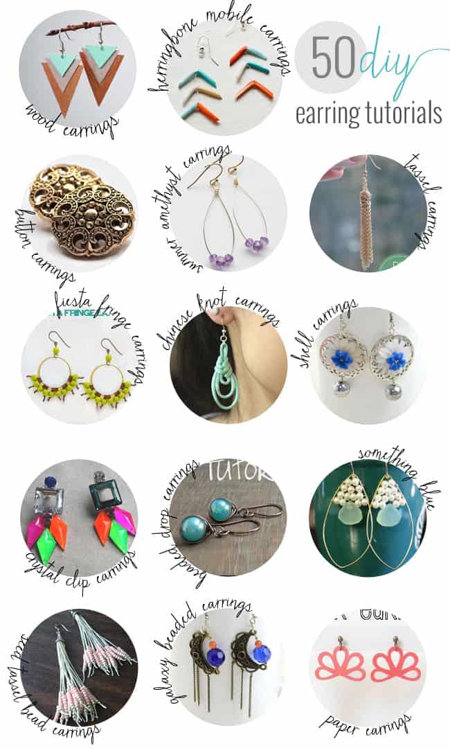 50 DIY Earrings | HelloGlow.co