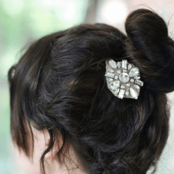 Bling Your Bun! Make Easy Jeweled Hair Combs