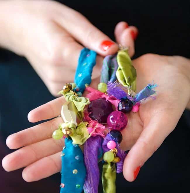 Fabric Scrap Bracelets | Hello Glow