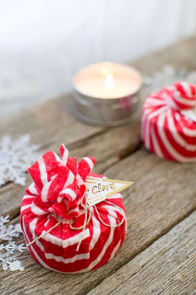 how to make peppermint scented candles