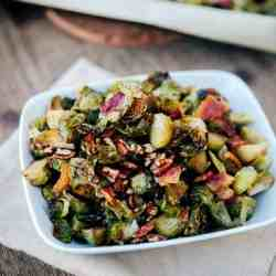 Roasted Maple Bacon Brussels Sprouts Recipe