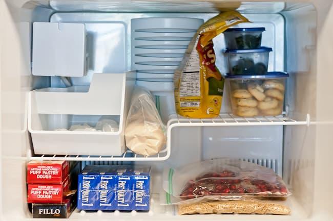 thanksgiving kitchen - freezer