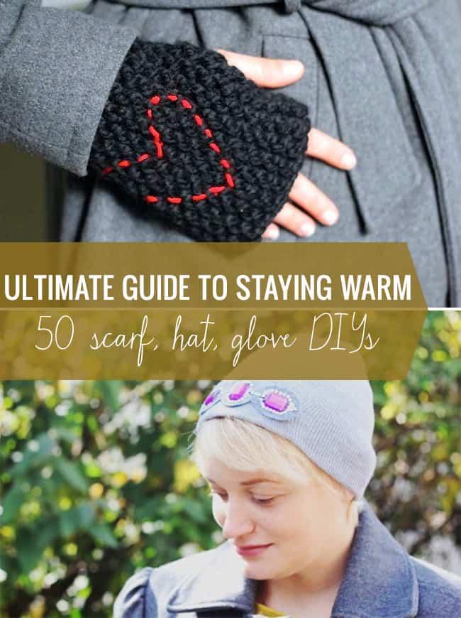 50 Hat, Glove + Scarf DIYs to Keep You Warm this Winter | Hello Glow