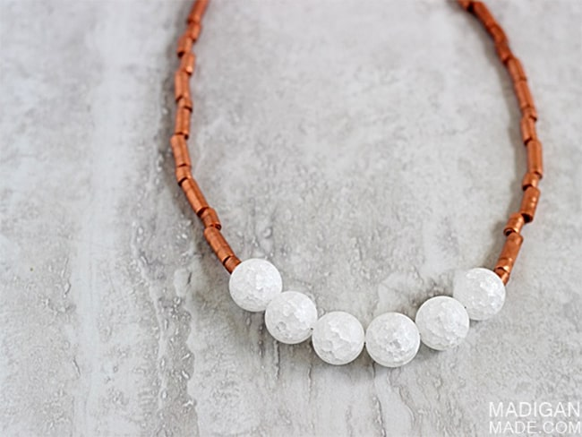 Copper tubing necklace | Hello Glow