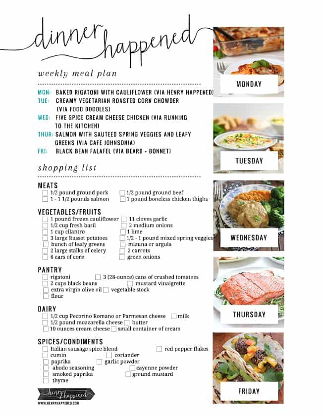 Baked Rigatoni meal plan | Hello Glow