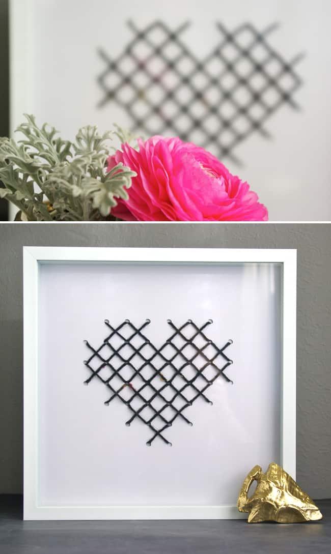 Cross Stitched Heart Art | Hello Glow