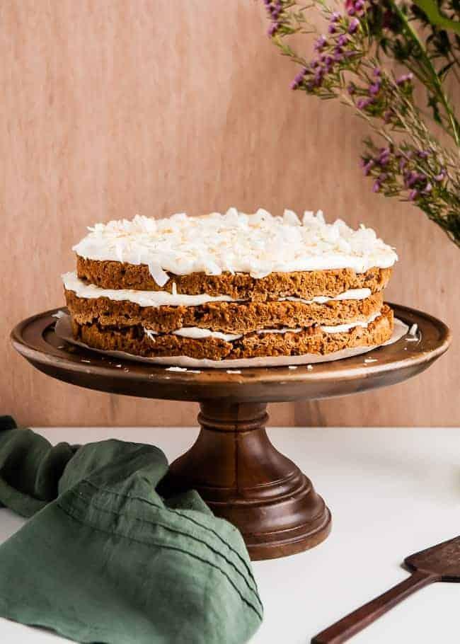 Vegan Gluten-Free Carrot Cake Recipe   HelloGlow.co