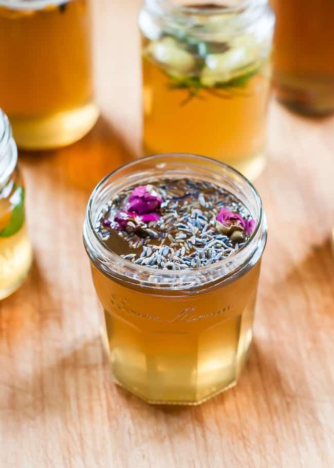 DIY flavored syrups lavender rose-2