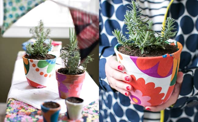 Fabric Covered Planters - Henry happened