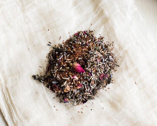 Rooibos Lavender Rose Herbal Tea Blend | Hello Glow