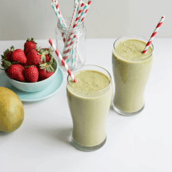 Swiss Chard, Mango + Strawberry Beauty Smoothie for Healthy Hair