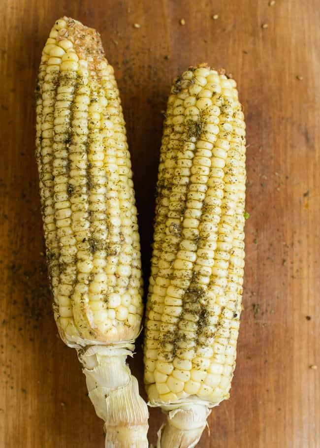 Garlicky Za'atar Roasted Corn