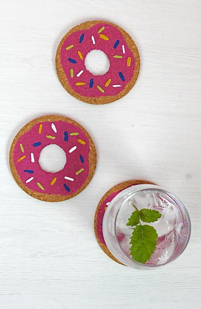 DIY Donut Coasters   HelloGlow.co