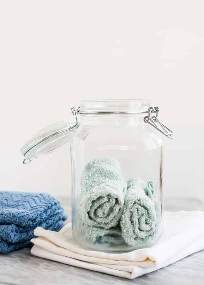 DIY natural disinfectant wipes