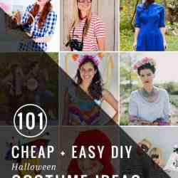 101 Cheap + Easy DIY Halloween Costume Ideas