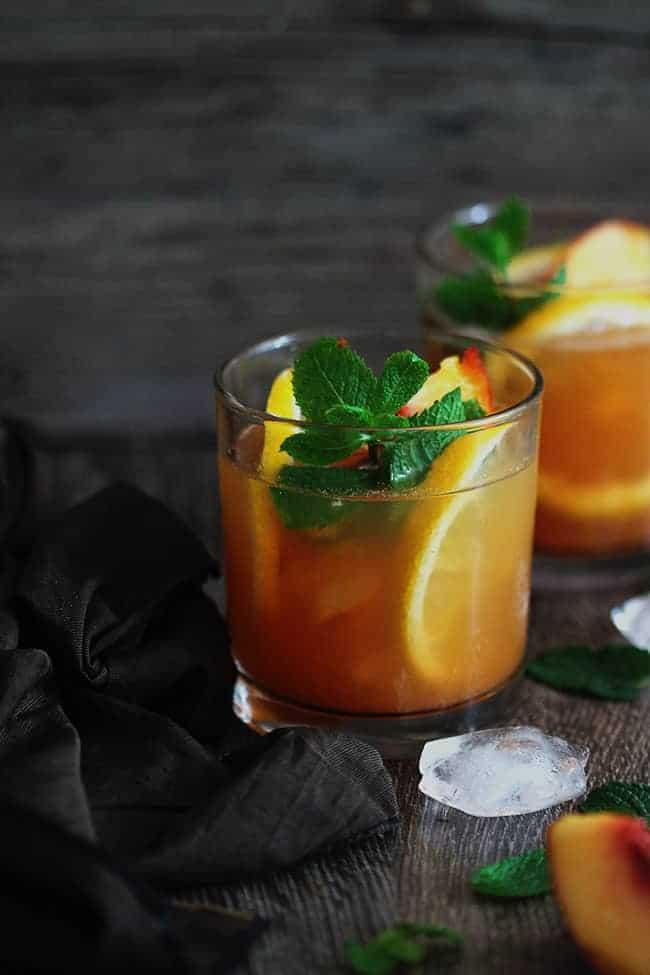 Green Tea and Peach Julep Recipe   HelloGlow.co